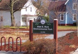 Alan-E.-Rich-Env.park sign